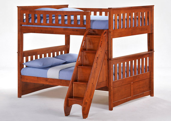mountain bunk bed with stairs