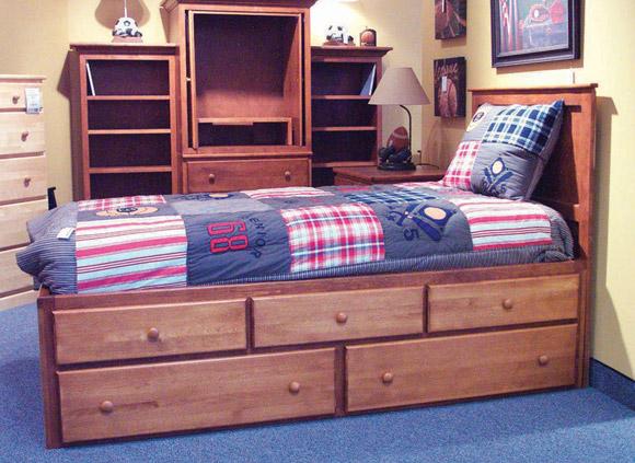 Five Drawer Storage Bed