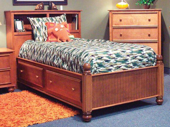 Rockport Captain's Bed with Bookcase Headboard