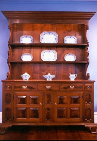 Walnut cupboard