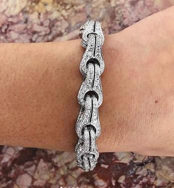 Di Modolo white gold 18k diamond Centauro bracelet
